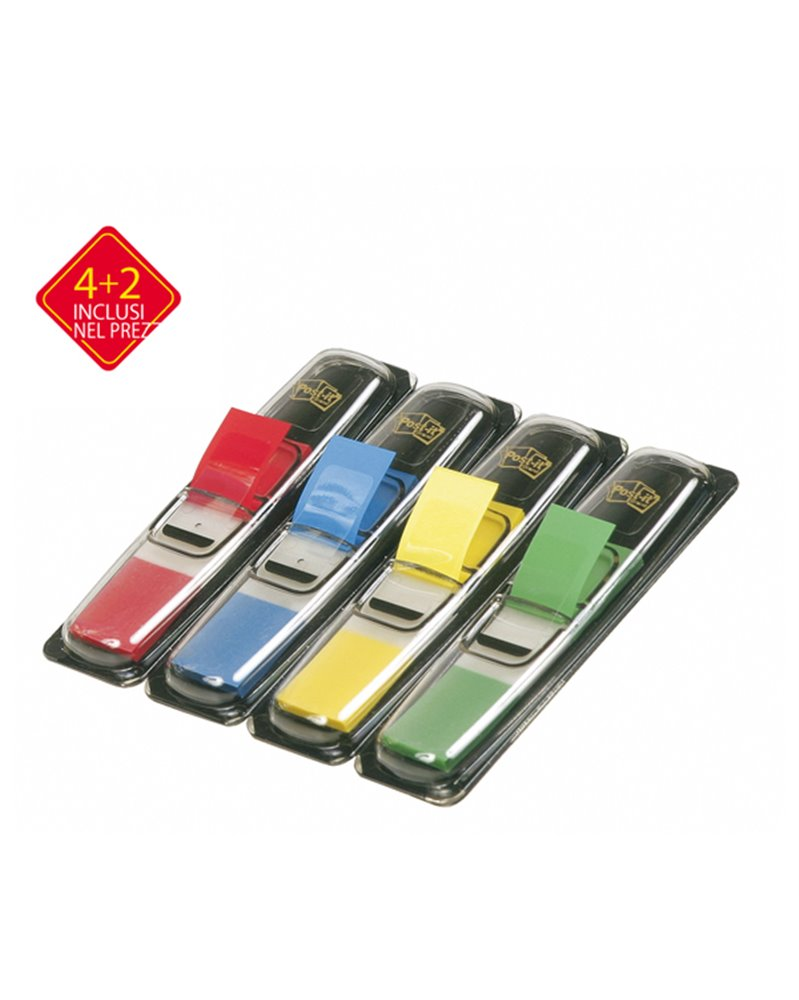 SEGNAPAGINA Post-it® PACK 4+2 BLISTER 140 INDEX MINI IN 4 COLORI CLASSICI