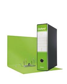Registratore OXFORD G85 verde lime dorso 8cm f.to protocollo ESSELTE