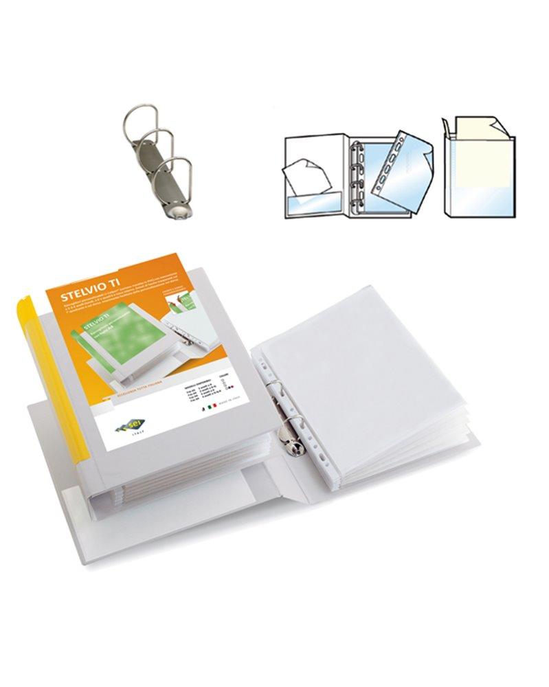 Raccoglitore STELVIO TI 30 A5 3D 15x21cm bianco personalizzabile SEI ROTA