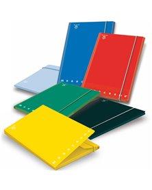CARTELLA 3 LEMBI c/elastico A4 - D 1.2 MONOCROMO colori assortiti