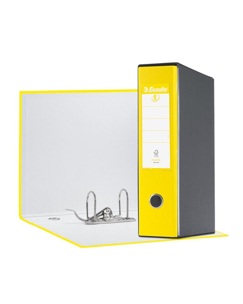 Registratore EUROFILE G55 giallo vivida dorso 8cm f.to protocollo ESSELTE