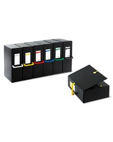 Scatola archivio Big Next 200 nero/giallo 25x35cm dorso 20cm