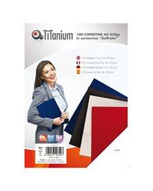 100 COPERTINE A4 CARTONCINO GOFFRATO 250g ROSSO TiTanium