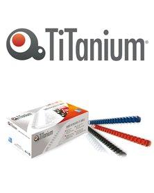 100 DORSI PLASTICI 21 ANELLI 6MM BLU TiTanium