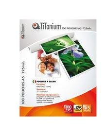 100 POUCHES 80x111mm (A7) 125my TiTanium