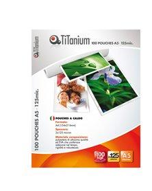 100 POUCHES 54x86mm 125my CREDIT CARD TiTanium