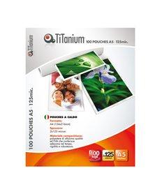 100 POUCHES 60x90mm 125my BUSINESS CARD TiTanium