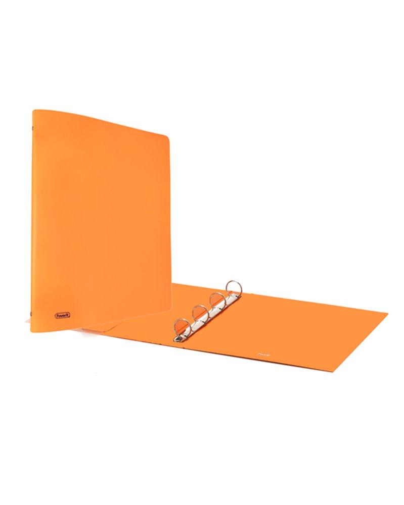 Raccoglitore Europa 4010 22x30mm 4R dorso 30 arancio neon Favorit