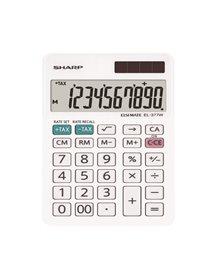 Calcolatrice da tavolo EL 377W , 10 cifre, doppia alimentazione, bianca