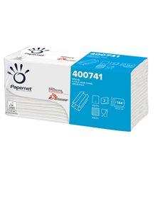 Pacco 144 asciugamani piegati a C Goffrato onda+ Ecolabel Papernet