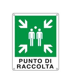 CARTELLO ALLUMINIO 25x31cm 'PUNTO DI RACCOLTA'
