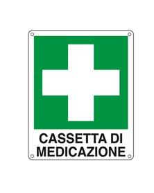 CARTELLO ALLUMINIO 16x21cm 'CASSETTA DI MEDICAZIONE'