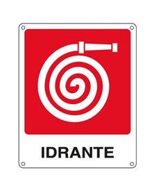 CARTELLO ALLUMINIO 25x31cm 'IDRANTE''