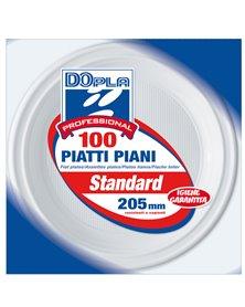 100 PIATTI PIANI Ø 205mm Dopla Professional