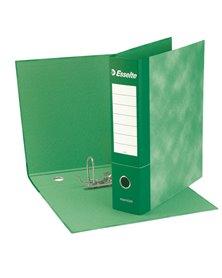 Registratore ESSENTIALS G74 verde dorso 5cm f.to protocollo ESSELTE