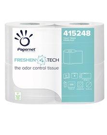 Pacco 4RT Carta igienica 3 veli 25,3mt 230 strappi Freshen Tech Papernet