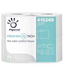 Pacco 4RT Carta igienica 2 veli 33,3mt 300 strappi Freshen Tech Papernet