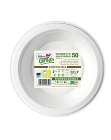 50 Scodelle Ø175mm BIODEGRADABILI Dopla Green art. 7707