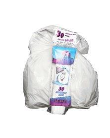 30 Sacchi bianchi bagno 40x50cm 15Lt 16µ Rolsac