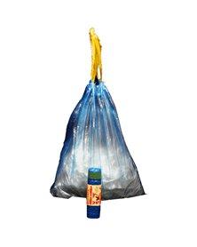 15 Sacchi azzurro 50x60cm 30Lt 13µ con maniglie Rolsac