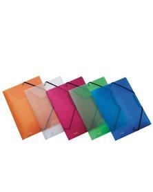 Cartella 3L C/elastico colori ass. LUMINA 22X30 D0-3 Favorit