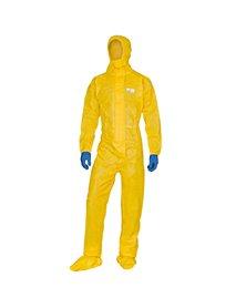 Tuta di protez. da rischio chimico DT300 Tg L giallo Deltachem