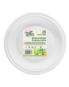 25 Piatti fondi Ø220mm BIODEGRADABILI Mater-bi Dopla Green art. 40004