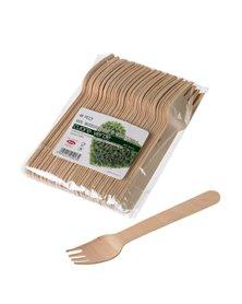 48 Forchette in legno 16cm Leone