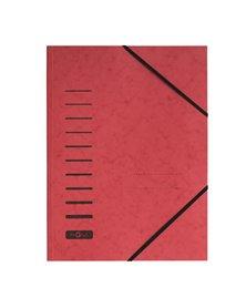 Cartellina rossa con elastico in cartoncino A4 PAGNA