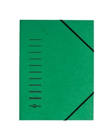 Cartellina verde con elastico in cartoncino A4 PAGNA