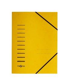 Cartellina giallo con elastico in cartoncino A4 PAGNA