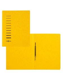 Cartellina gialla in cartone con pressino fermafogli A4 PAGNA