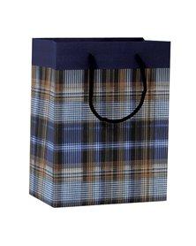 Shopper regalo SCOZZESE BLU 23x30x10cm Kartos