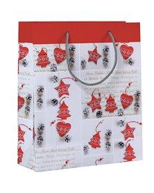 Shopper regalo SHABBY CHIC CHRISTMAS 30x36x12cm Kartos