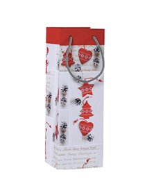 Shopper regalo SHABBY CHIC CHRISTMAS 12x35x10cm Kartos