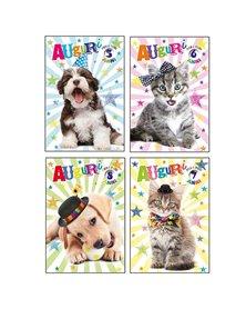 Biglietto Buon Compleanno c/ruota numerata tema cuccioli Kartos
