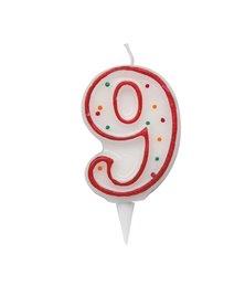 Candelina Zuccherino numero 9 - h. 8.5cm Big Party