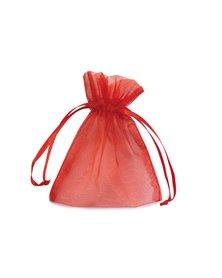 20 Sacchetti organza Milly 8,5x10cm rosso