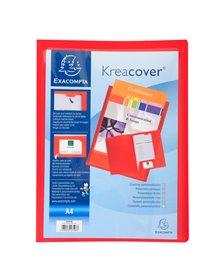 Cartella di presentazione in PP 2 alette rosso Kreacover A4 Exacompta