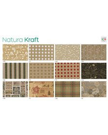 Scatola 100fg carta regalo Natura Kraft 70X100cm SADOCH