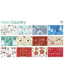 Scatola 100fg carta regalo Raso Country Natale 70X100cm SADOCH