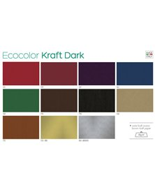 Scatola 100fg carta regalo Kraft Dark 70X100cm SADOCH