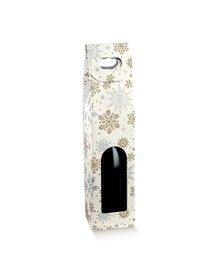 Scatola 1 bottiglia c/maniglia 90x90x385mm crystal 38233 SCOTTON