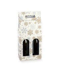 Scatola 2 bottiglie c/maniglia 180x90x385mm crystal 38234 SCOTTON