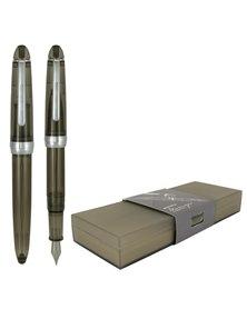 Penna stilografica Monza tratto medio fusto in resina gray sky Monteverde