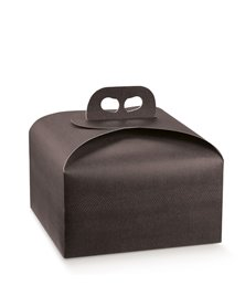 Scatola portapanettone 245x245x130mm skin coffe 38296 SCOTTON