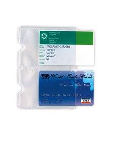 Busta porta card 2P TRASP. 2 tasche 5,8X8,7CM Sei rota