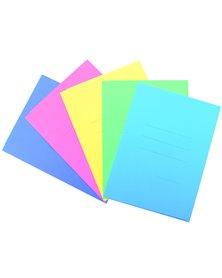 25 cartelline 3L pastello C/stampa rigatura rosa CARTEX BLASETTI