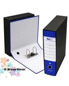 Registratore STARBOX f.to protocollo dorso 8cm blu STARLINE