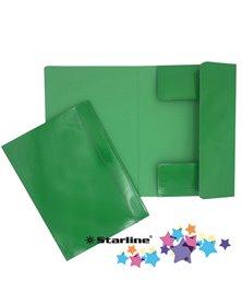 Cartella con elastico 25x34cm Verde Queen Starline